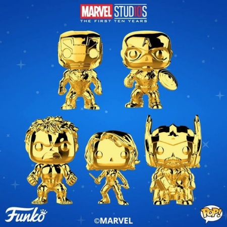 Marvel Studios 10th Anniversary Gold Chrome Funko Pop! New Release