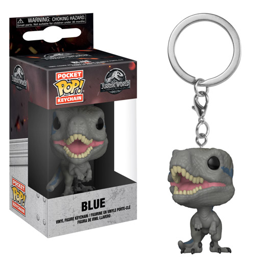 blue jurassic world pocket pop keychain