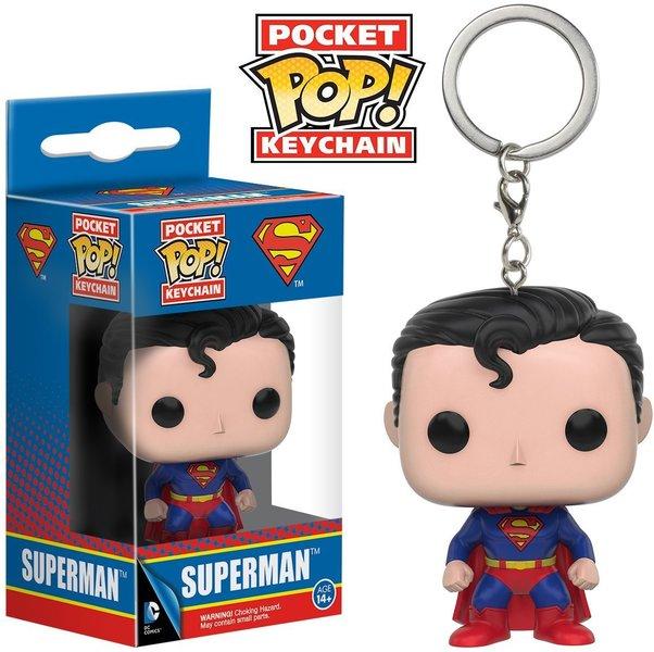 superman dc pocket pop keychain