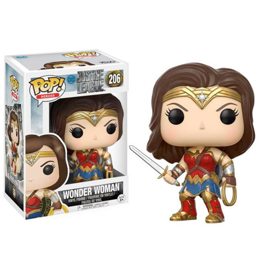 wonder woman justice league funko pop