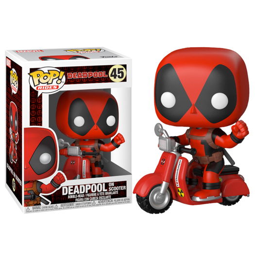 deadpool on scooter marvel funko rides