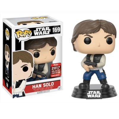 han solo action pose star wars 2017 galactic convention exclusive funko pop