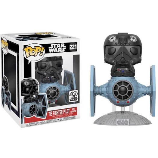tie fighter with tie pilot star wars