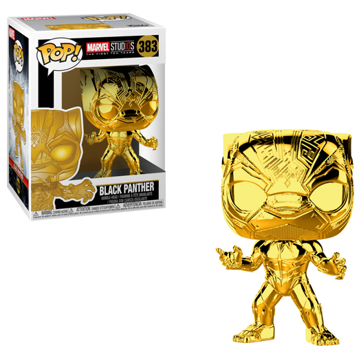 black panther gold chrome funko