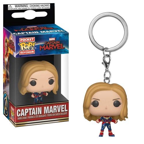 Funko Keychain Captain Marvel unmasked
