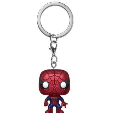 spider-man pocket keychain metallic