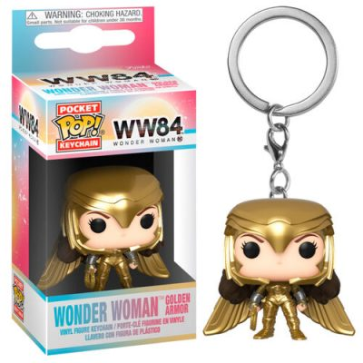 wonder woman 1984 golden armor funko keychain