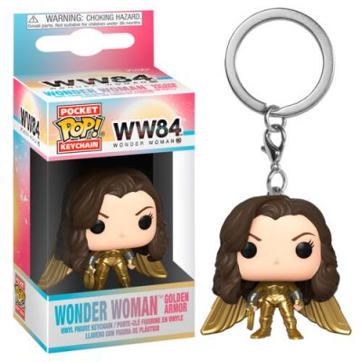 wonder woman 1984 golden armor funko keychain no helmet